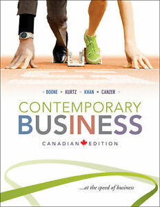 Contemporary Business Canadian Edition by Boone Kurtz Khan & Can