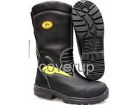 2 brandnew pairs of jolly safety boots, as worn by firemen. sizes 7 and 8uk