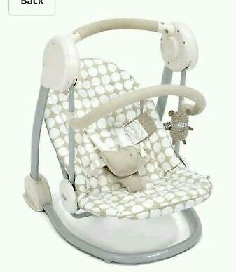 Mamas and Papas Neutral Rocking Slumber Baby Swing