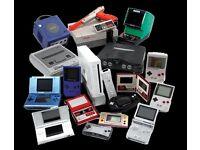 WANTED - video games and consoles - cash waiting - SEGA - Nintendo - PlayStation - Atari