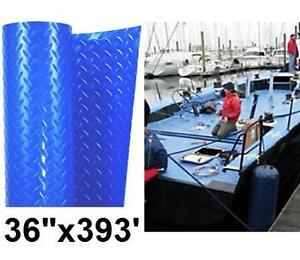NEW DIAMOND FLOOR PROTECTION COVER COVER GUARD 10 MIL 36 X 393' BLUE DIAMOND PLATE Temporary Surface Protection