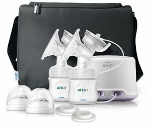 Avent Double Electric Breast Pump and Bottles