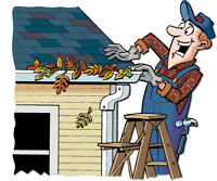 Leaf Clean-Up &  Gutter cleaning n fixing