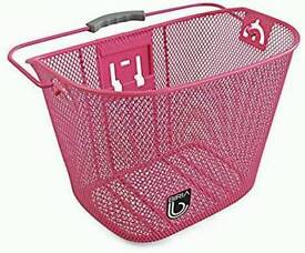 Pink bicycle basket