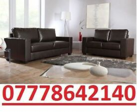 3 AND 2 LEATHER SOFA SUITES IN BLACK OR BROWN