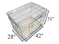 Ellie-Bo Deluxe Extra Strong 2 Door Folding Dog/Puppy Cage