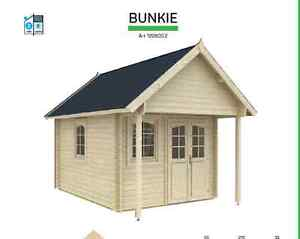 Bunkie Cabin Shed Kits with $300.00 of EXTRA Upgrades included