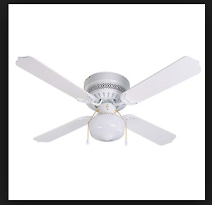 "42"" blade, Ceiling hugging fan with light,"