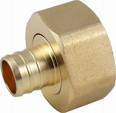 Pipe Fitting, PEX Swivel Adapter, 3/4 x 1-In. FNPT