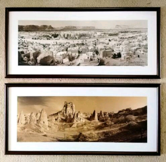 2 x Exotic Landscape Photos Signed and Framed