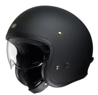 Shoei J O Cruiser Open Face Helmet suit Harley rider built in Visor