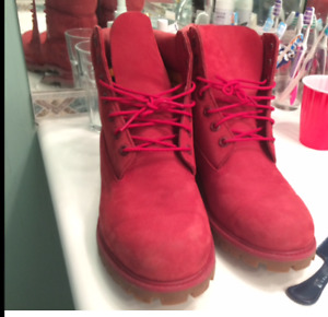 Timberland Fire and water red mens boots size 10.5