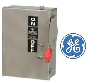 NEW GE STAINLESS SAFETY SWITCH - 111303353 - 60A 3P Hd Ss N4X 600V Fusible GENERAL ELECTRIC ELECTRICAL DISCONNECT SWITCH