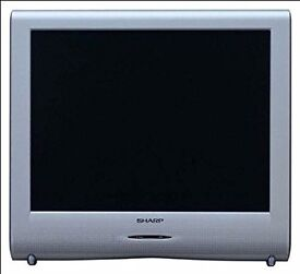 """Sharp 20"""" LCD TV with wall bracket attached"""
