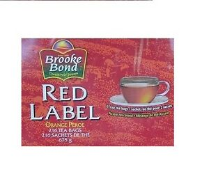 Brooke Bond Red Label Orange Pekoe 216 Tea Bags BRAND NEW