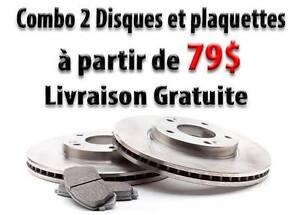 Disques et plaquettes de freins pour Accord, Civic, CRV,...