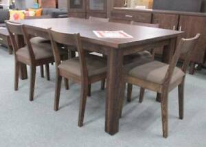 Dining Suite 7PCE Oak - Indiana - The Clearance House