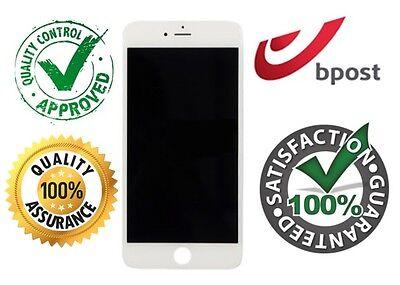 IPHONE 6S SCHERM ECRAN SCREEN -WIT BLANC WHITE -NIEUW NOUVEAU NEW +FREE ADHESIVE