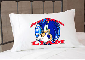 Sonic The Hedgehog Pillowcase Personalized Pillow Case Bedding Sheet Bedroom