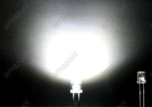 100pcs-X-white-Super-Bright-5mm-Flat-top-Wide-Angle-led-Light-lamp