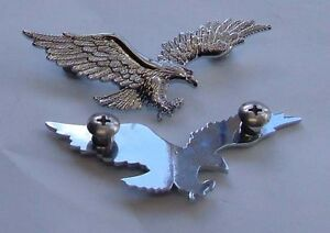 Flying-Eagle-Chrome-Bolt-On-Badge-Motorcycle-Curiser-Bikes-Small-Sold-1-Eagle