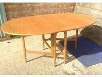 Vintage retro folding wooden teak space saving gate leg kitchen dining table shabby chic G Plan