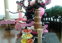 CHOCOLATE FOUNTAIN & PERSONALIZED EDIBLE IMAGES