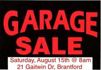 One Day Only!!  Multi-family, North-End garage sale