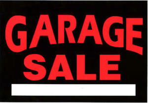 GARAGE SALE RAIN OR SHINE WED MAY 23 6PM -FRI MAY 25TH 6PM