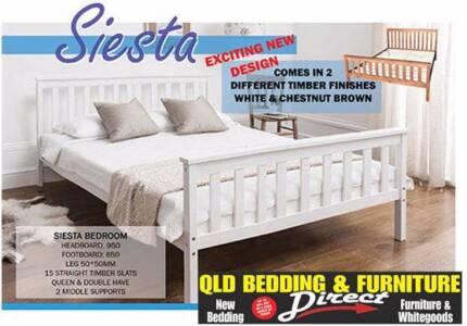 New Wooden Bed Frames. Rent to Keep Option Available.