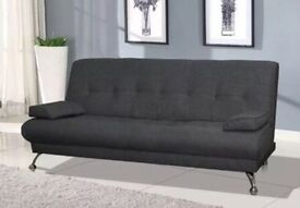 Amazing Comfy Italian Venice Lima Sofa Bed Grey Fabric