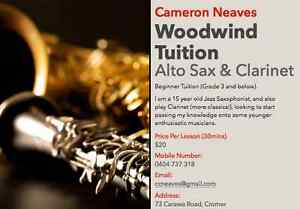 Cameron Neaves --- Woodwind Tuition Cromer Manly Area Preview