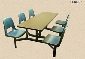 CLUSTER SEATING. CAFETERIA SEATING.LUNCHROOM TABLES & CHAIRS