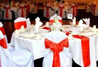 Wedding/Special Event Chair Covers, Sashes & Tablerunners