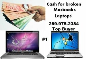 Wanted :I will buy your broken Macbook - windows laptop