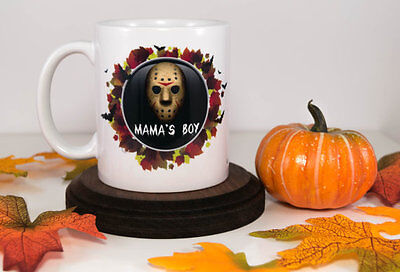 Mama's Boy | Halloween | Jason Hockey Mask | Halloween Coffee Mug | Gift - Hockey Halloween Ideas