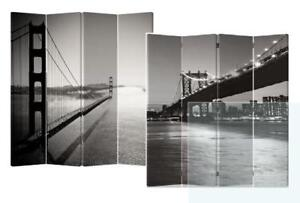 BRAND NEW NYC-Inspired 4 Panel Canvas Room Divider ($160)