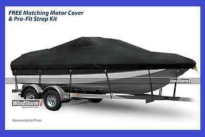 "+NEW+ Eevelle WindStorm Watercraft V-Hull BOAT COVER W 102"" x D 318"" CHARCOAL"