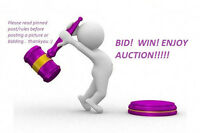 All welcome to join the Bid! Win! Enjoy Auction