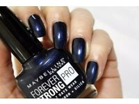 Maybelline Forever Strong Super Stay (650 Midnight Blue) Nail Polish Varnish