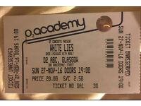 White Lies - o2 ABC Glasgow - 27/11/16 - 1x ticket