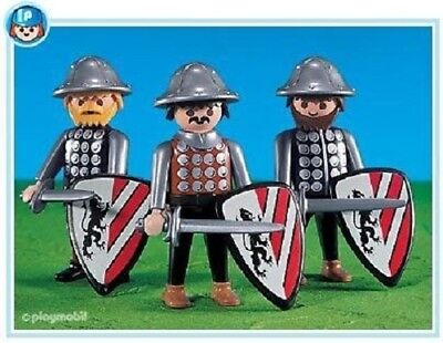 Playmobil 7664  Black Lion Knights 3 figures mint in Bag Add On NEW 132