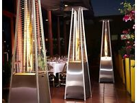 "91"" (231cm) Quartz Tube 40,000 BTU Pyramid Patio Heater"