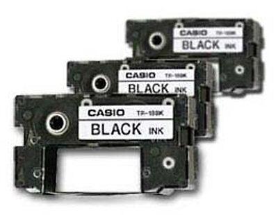 3 Casio Tr-18bk Black Ink Ribbon Tr18bk For Cw-100, Cw-50...
