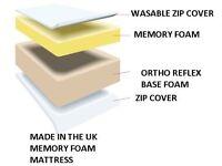 MEMORY FOAM ORTHOPAEDIC MATTRESS DOUBLE 140 x 200 cm IKEA size – 2 AVAILLABLE
