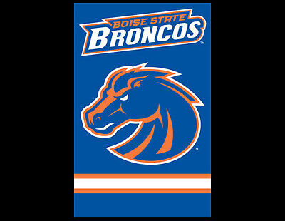 Ncaa Applique Banner (BOISE STATE BRONCOS Official NCAA Team Dynamic Applique WALL BANNER )