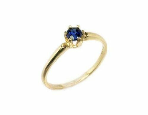 14kt Gold Ring Blue Sapphire Medieval Sorcery Prophecy Black Magic Ring