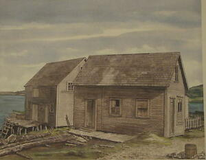Old Fish Store Trinity Newfoundland Ltd Ed. Signed & Numbered
