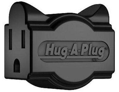 Black Hug-A-Plug Dual Outlet Wall Adapter Plug - New