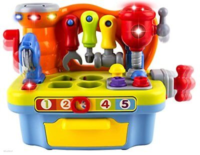 Musical Learning Workbench Toy with Tools, Sound Effects and Lights & Shape Sort